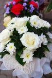 白玫瑰。 库存图片