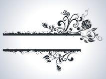 黑白玫瑰框架 免版税库存照片