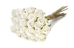 白玫瑰花束  免版税库存图片