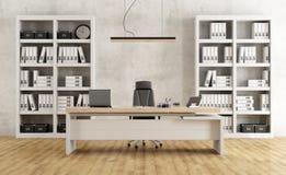 黑白现代办公室 免版税库存图片