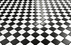 黑白瓦片背景 库存图片
