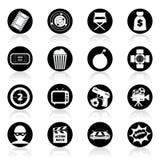黑白的动作片 免版税库存照片