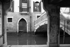 黑白的威尼斯 免版税库存照片