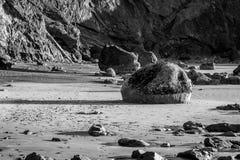 黑白的巨石城 免版税库存图片