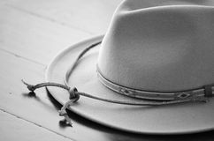 黑白的牛仔帽 库存图片