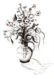 黑白的花束 免版税库存图片