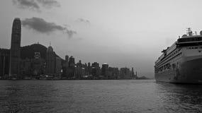 黑白的香港 免版税库存照片
