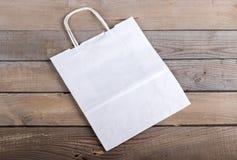 白皮书袋子 免版税库存图片