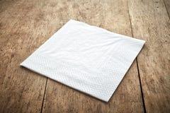 白皮书餐巾 免版税库存图片