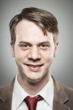 白种人人愉快的微笑的Portrtait 免版税库存图片