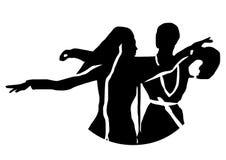 白种人人民的舞蹈,传染媒介例证 库存例证