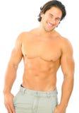 白种人健身英俊的男 库存图片