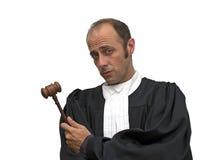 白种人法官 免版税库存照片