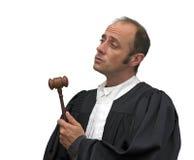 白种人法官 免版税库存图片