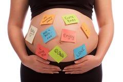 白种人注意孕妇 库存图片