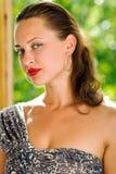 白种人纵向性感的妇女年轻人 免版税库存图片