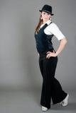 白种人舞蹈演员女性爵士乐 免版税库存照片