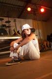 白种人舞蹈演员自由式Hip Hop 图库摄影