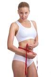 白种人评定的腰部妇女 库存照片
