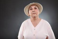 白种人资深妇女 图库摄影