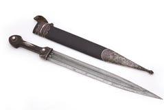 白种人达吉斯坦匕首 免版税图库摄影