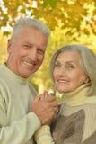 白种人年长夫妇 免版税图库摄影