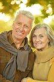 白种人年长夫妇 库存图片