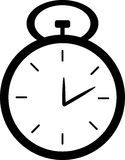 黑白秒表时钟 免版税库存图片
