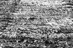 黑白秸杆屋顶 免版税库存图片