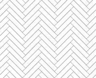 黑白简单的木地板人字形木条地板无缝的样式,传染媒介 向量例证