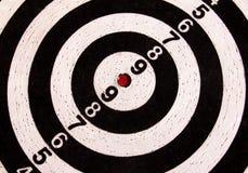 黑白箭目标 免版税库存照片