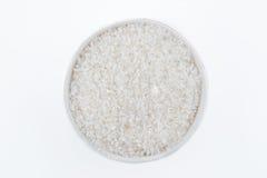 白米、自然长的米五谷背景的和纹理o 免版税库存图片