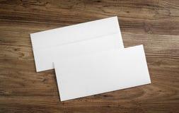 白纸信封 库存图片
