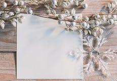 白纸冬天主题的大模型 免版税库存图片