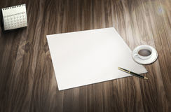 白纸准备好您自己的文本 免版税库存图片
