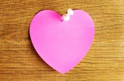 白纸心脏 图库摄影