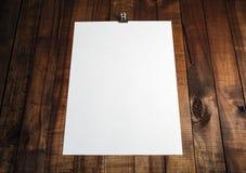 白纸海报 免版税库存照片