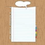 白纸页 库存例证
