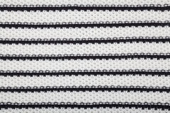 黑白纺织品纹理 免版税库存照片