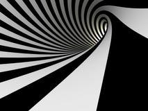 黑白线隧道  免版税库存图片