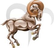 白羊星座公羊符号星形 图库摄影