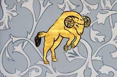 白羊星座公羊黄道带标志 免版税图库摄影