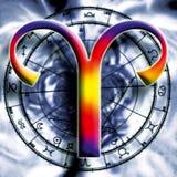 白羊星座占星术 免版税库存图片