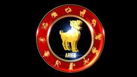 白羊星座印地安黄道带标志 库存例证