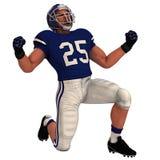 白美国橄榄球运动员 图库摄影
