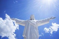 白耶稣库斯科秘鲁 免版税库存图片