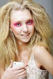 白肤金发与粉红色组成 免版税图库摄影