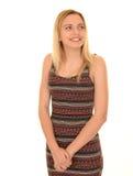 白肤金发女孩微笑少年 免版税库存照片
