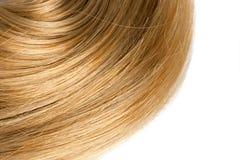 白肤金发的人的发光的头发 免版税库存图片