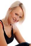 白肤金发的偶然女孩 免版税库存图片